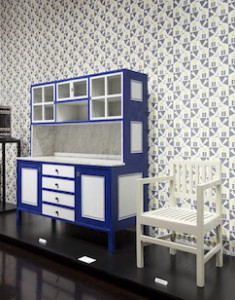 Moser designed the pinewood sideboard shown here for the kitchen of a Berlin apartment in 1905