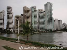 Bocagrande Shoreline in Cartagena, Colombia