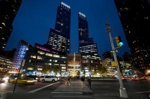 Time Warner towers at Columbus Circle